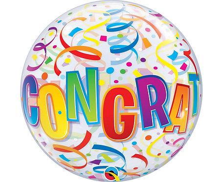 Balon foliowy 22 cale QL Bubble Poj. Congratulations