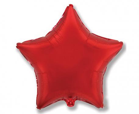 """Balon foliowy """"Gwiazda"""", czerwona, 19"""""""