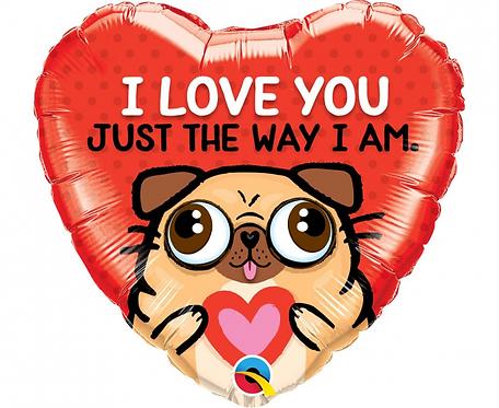 Balon foliowy 18 cali QL HRT - I Love You Just The Way I Am