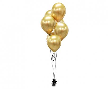 """Balony Beauty&Charm, platynowe złote 12""""/ 7 szt."""