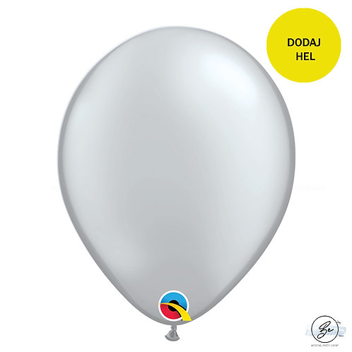 """Balon QL 11"""", metalik srebrny"""