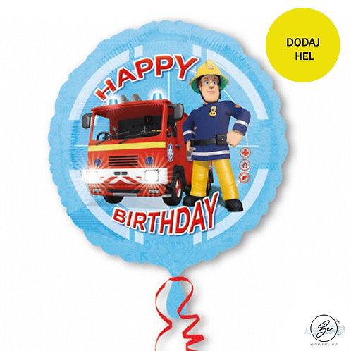 "Balon foliowy 18'' CIR - ""Strażak Sam Happy Birthday"""