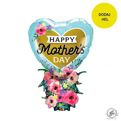 Balon foliowy 38 cali QL Happy Mother's dayHP , bukiet