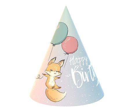Czapeczki papierowe Kolekcja Happy Birthday - lisek