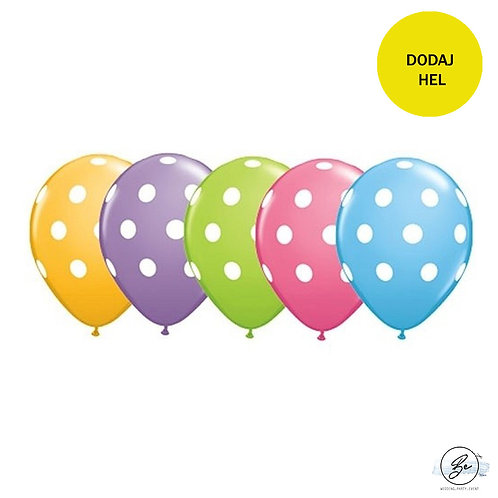 "Balon QL 11"" z nadr. ""Grochy"", pastel 5 kolorów"