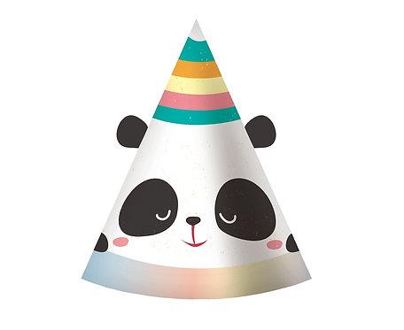 Czapeczki papierowe Rozmarzona Panda, 6 szt.
