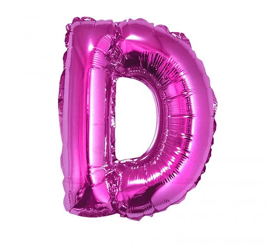 "Balon foliowy ""Litera D"", różowa, 35 cm"