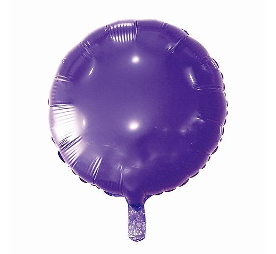 """Balon foliowy """"Okrągły"""", fioletowy, 18"""""""