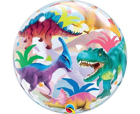 Balon foliowy 22 cale QL Bubble Poj. Dinozaury