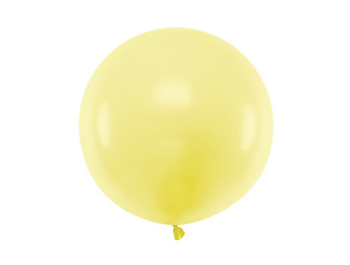 Balon gigant okrągły Pastel Light Yellow, z możliwością personalizacji