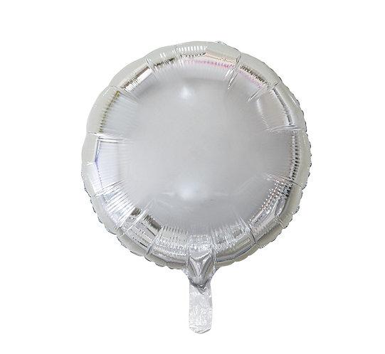 """Balon foliowy """"Okrągły"""", srebrny, 18"""""""