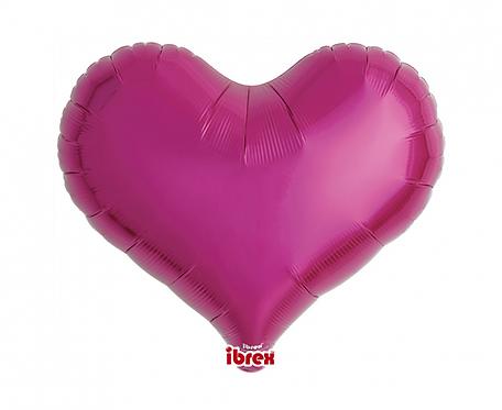 "Balon Ibrex serce Jelly 18"", Metallic Magenta"