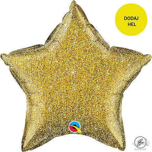 Balon foliowy 20 cali QL STR Glittergraphic Gold