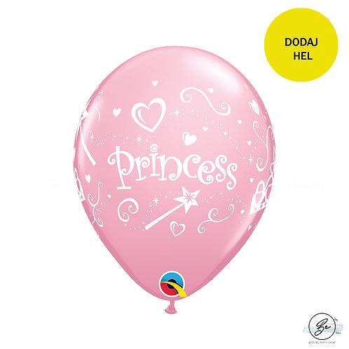 """Zestaw balonów QL 11"""" z nadr. """"Princess"""", różowy"""