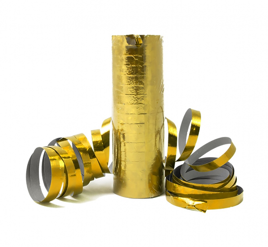 Serpentyny holograficzne złote/ 1 szt.