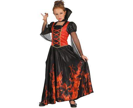 Strój dla dzieci Wampirka (sukienka, kołnierz), rozm. 120/130 cm