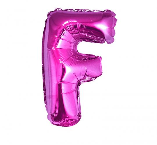 """Balon foliowy """"Litera F"""", różowa, 35 cm"""