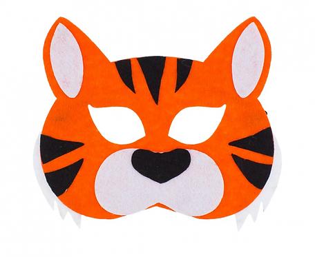 """Maska filcowa """"Tygrys"""", rozm. 20 x 14 cm"""