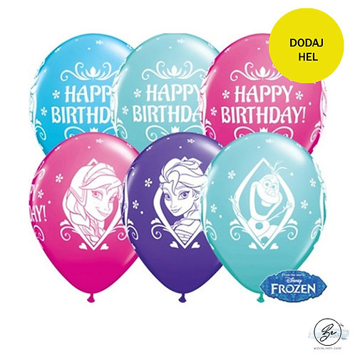 "Balon QL 11"" z nadr. ""Frozen Happy Birthday """