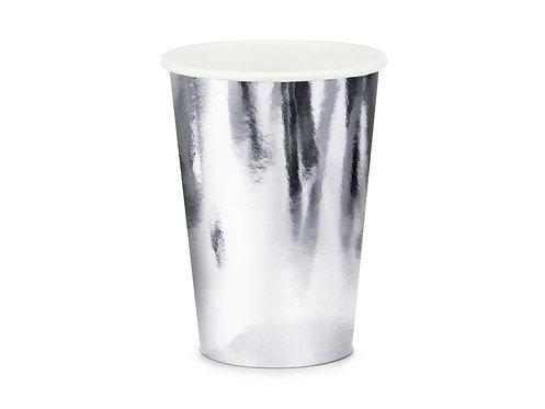Kubeczki, srebrny, 220ml