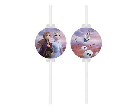 Słomki z medalionem Frozen 2, 4 szt