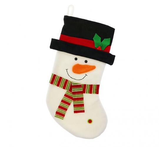 """Skarpeta świąteczna """"Bałwanek"""" rozm.: 44,5 cm"""