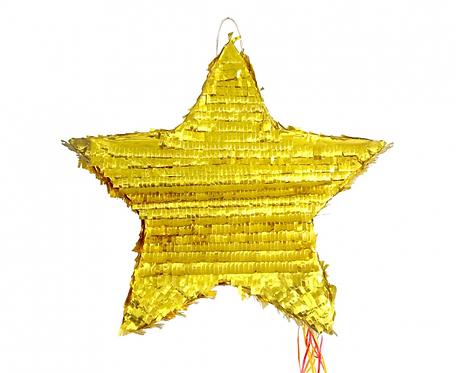"""Piniata """"Gwiazda"""", metaliczna, rozm. 45x45x9 cm"""