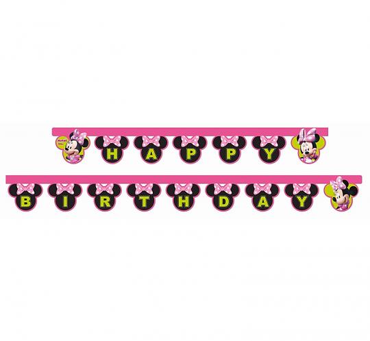 "Banner ""Minnie Happy Helpers- Happy Birthday"""