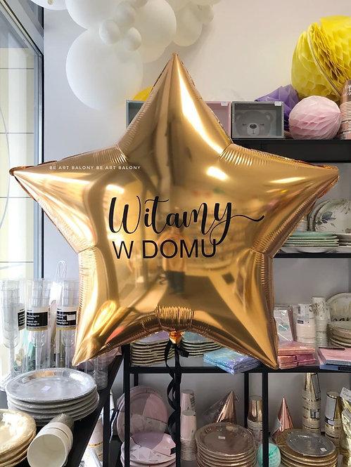 Balon gwiazda gigant personalizowany napełniony helem - rożne kolory