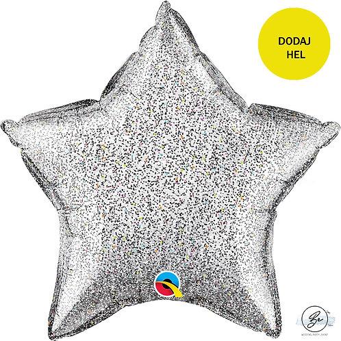 Balon foliowy 20 cali QL STR Glittergraphic Silver