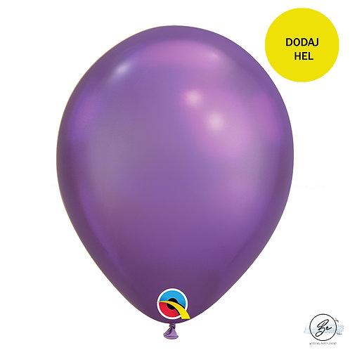 Balon QL 11 cali, chrom fioletowy