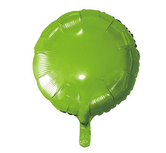 """Balon foliowy """"Okrągły"""", j. zielony, 18"""""""