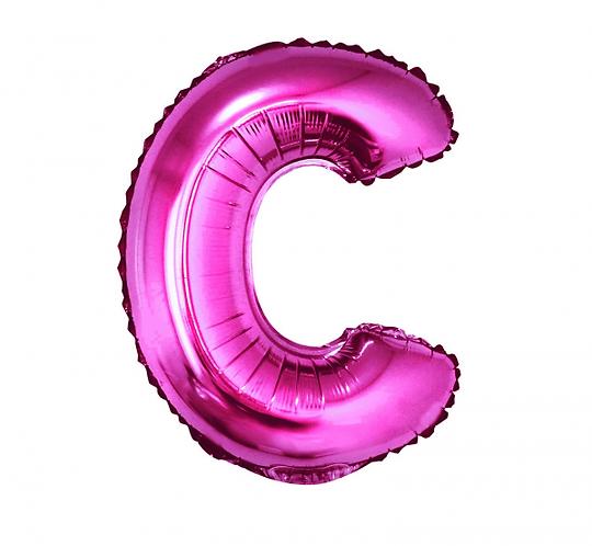 """Balon foliowy """"Litera C"""", różowa, 35 cm"""