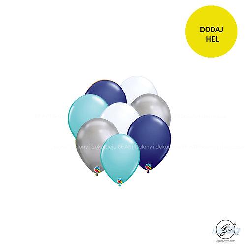 Bukiet balonowy Silver Boy 8 szt