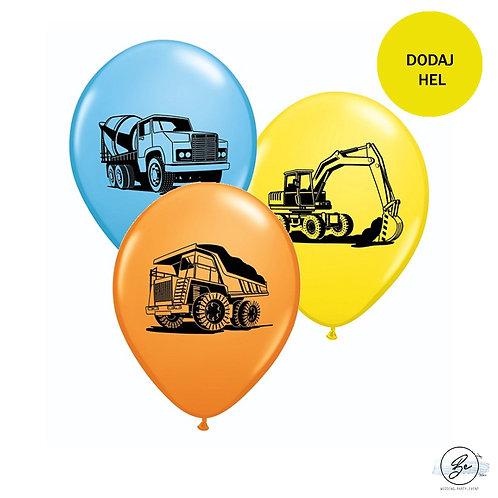 "Balon QL 11"" z nadr. ""Koparka i inne pojazdy"""