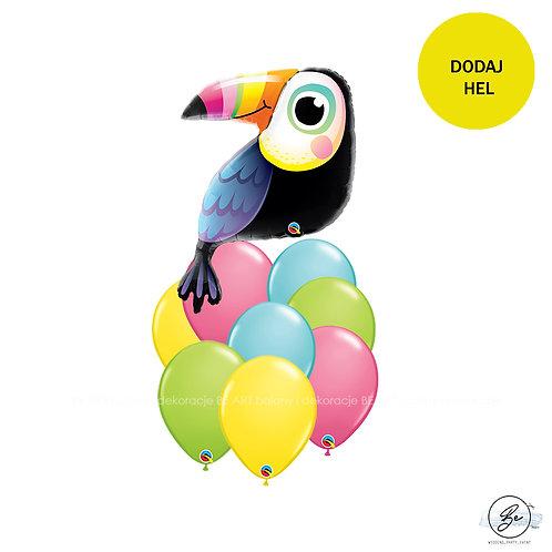 Bukiet balonowy Tropikalny Tukan 9 szt