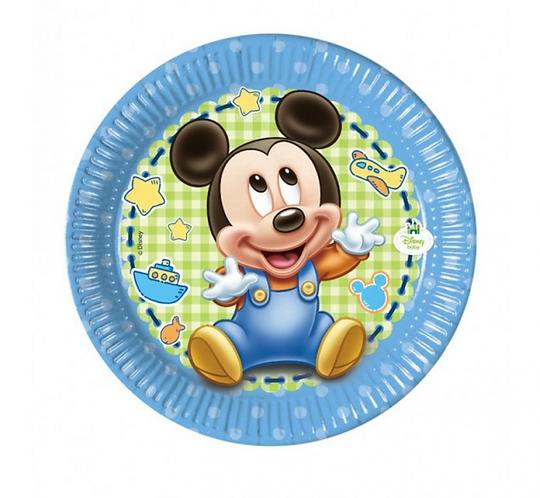 """Talerzyki papierowe """"Mickey Baby"""" 20 cm, 8 szt."""
