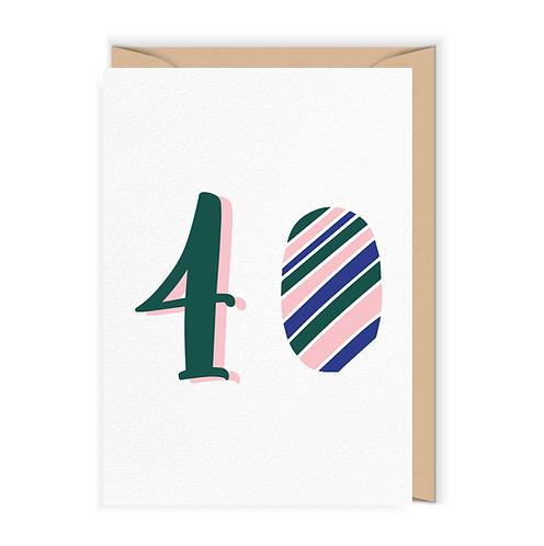 Kartka na 40-te urodziny