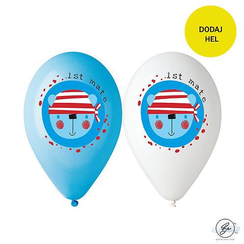 """Balony Premium """"Ahoj"""", nad. kolorowy, 12"""" / 5 szt."""