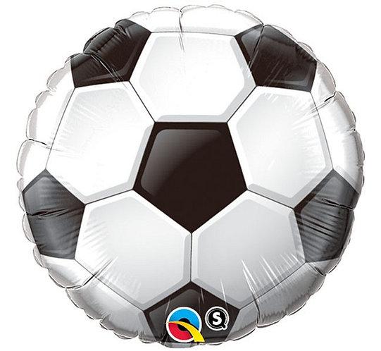 "Balon foliowy 18"" QL CIR - ""Piłka nożna"", biało-czarna"