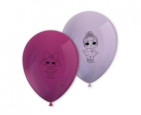 Balony 11 cali LOL Glitterati, 8 szt.