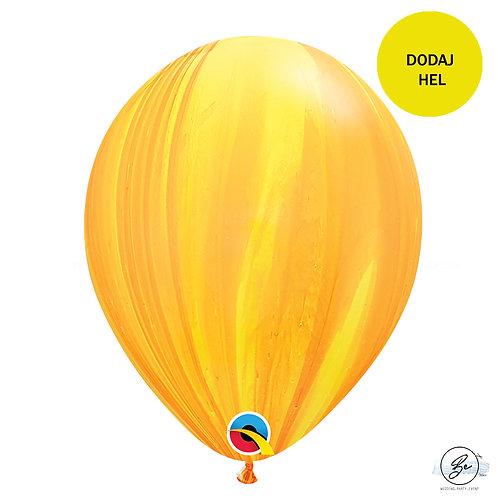 "Balon QL 11"", pastel agat zółty"