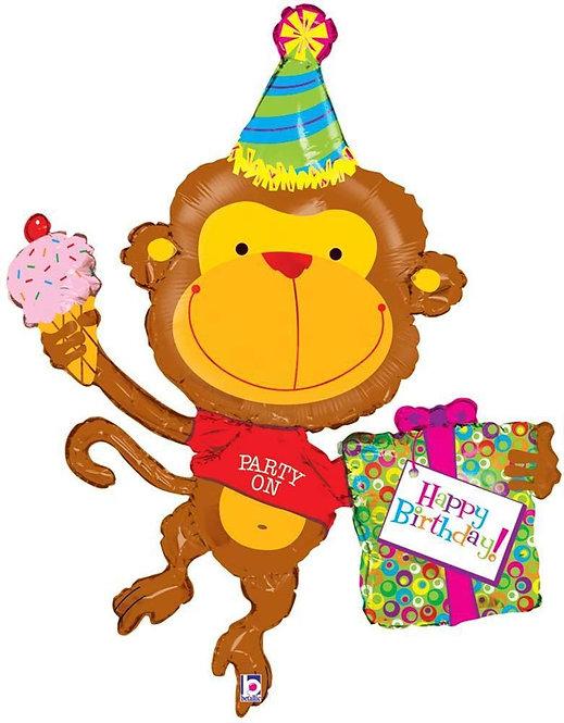 Balon Birthday Monkey