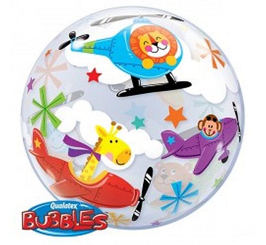"""Balon foliowy 22"""" QL Bubble Poj. """"Latający Cyrk"""""""