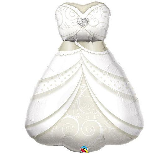 """Balon foliowy 38"""" QL SHP """"BRIDE'S WEDDING DRESS"""""""