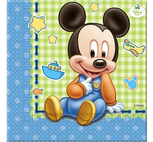 """Serwetki """"Mickey Baby"""" 33x33 cm, 20 szt"""