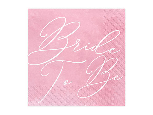 Serwetki Bride to be, 33x33cm