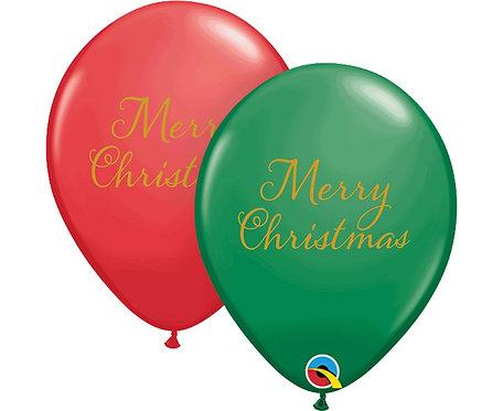 Balon QL 11 cali z nadr. Merry Christmas