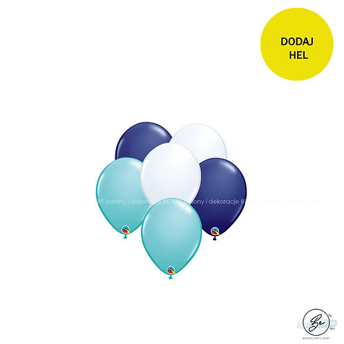 Bukiet balonowy Baby Blue 6 szt