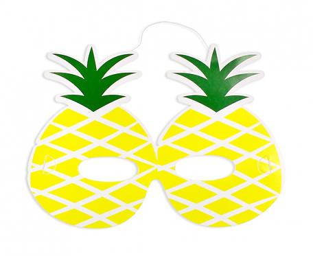 """Maski papierowe """"Słodki Ananas"""", 6 szt"""